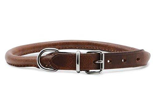 Heritage Leder-Halsband, rund genäht,  hautfarben, 39 - 48 cm -