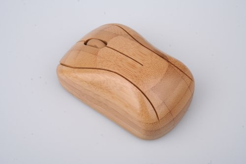 Wireless Mouse Bamboo - Kabellose Maus aus Bambus Holz