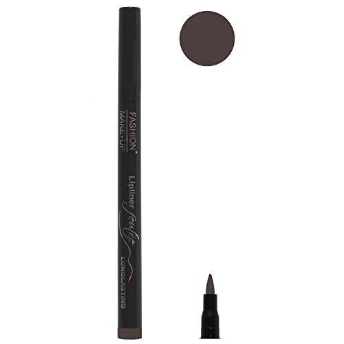 Feutre Semi Permanent Lip Liner - Couleur Aubergine - Effet Tatouage Contour des Levres Maquillage
