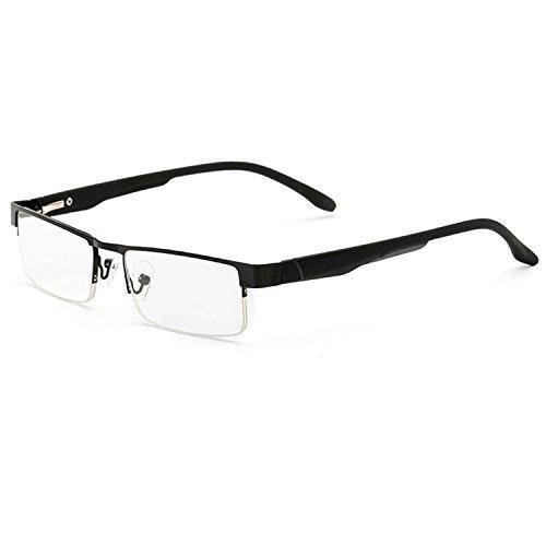 LANOMI Lesebrillen Metall Sehhilfe Augenoptik Halbrand Halbrandbrille Brille Lesehilfe für Damen Herren von 1.0 1.5 2.0 2.5 3.0 3.5 4.0 (Schwarz, 1.5)