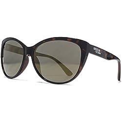 American Freshman Cateye Sonnenbrillen in dunkel schildpatt AFS018 One Size Brown Silver Mirror
