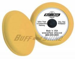 9 Contour Foam Pad Yellow by Buff and Shine (Shine Buff And Pads)