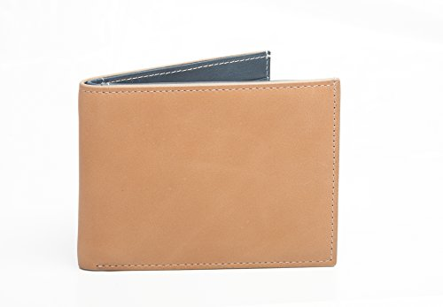 slim-leather-wallet-with-rfid-nfc-contactless-card-blocking-security-tan-blue-genuine-soft-leather-g