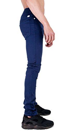 Da uomo aderentissimi da donna elasticizzato Twill Chino Jeans Ink