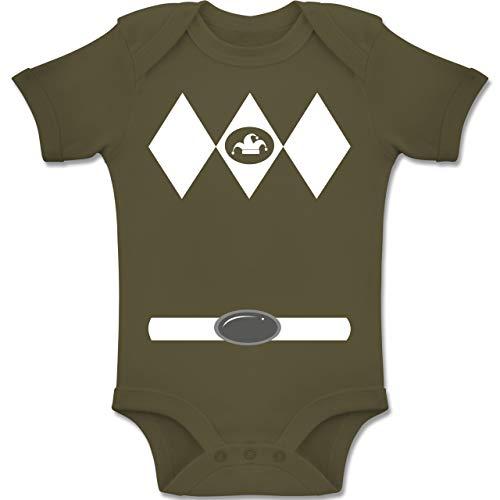 und Fasching Baby - Super Jeck Kostüm - 3-6 Monate - Olivgrün - BZ10 - Baby Body Kurzarm Jungen Mädchen ()