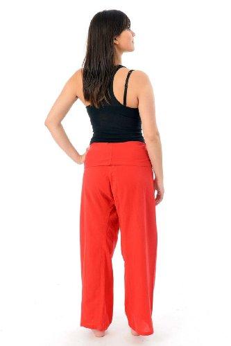 - Pantalon pecheur Thai rouge - Rouge
