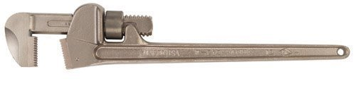 Ampco Safety Tools W-211 Bronze Pipe Wrench, Non-Sparking, Non-Magnetic, Corrosion Resistant, 10 OAL by Ampco Safety Tools