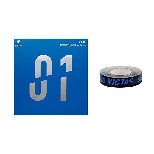 VICTAS Belag V > 01 + 1x Kantenband, 2,0 mm, rot