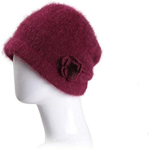 WE&ZHE Femminile Coniglio capelli cappello Beret, tenere al caldo di lavoro a maglia moda Baotou tappi in autunno e in inverno , 2#