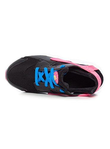 Nike Mädchen Huarache Run (Ps) Turnschuhe Schwarz / Grün / Rosa / Blau (Schwarz / Volt-Rosa Pow-Foto Blue)