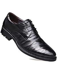 625ccf0117b56 Destacados Caballero Inglaterra Zapatos De Negocios para Hombres Derby  Cuero Suave Fiesta Zapatos De Boda Negros