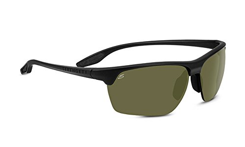 Serengeti Eyewear Erwachsene Linosa Sonnenbrille, Satin Black, Medium/Large
