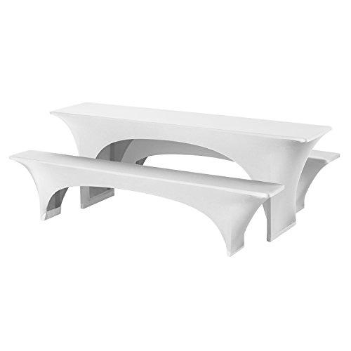 Dena 022380 Hussen-Set Fortune Stretch für Festzeltgarnitur, 90% Polyester -10% Elasthane, 220 x 50...