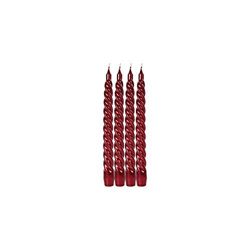 Le Chat Kerze, gedreht, Rot, 4 Stück