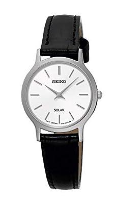 Seiko–Reloj de pulsera analógico para mujer cuarzo piel sup299p1