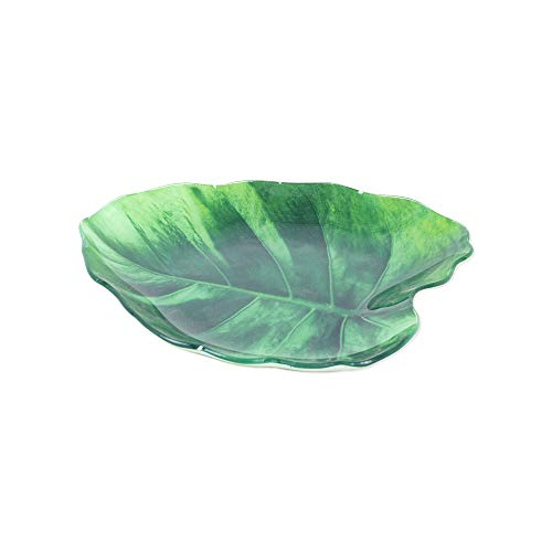 Vidal Regalos Dekoschale Blatt, Glas, 24 cm - 24 Glas-regal