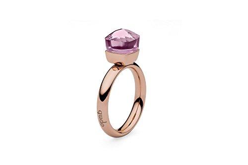Qudo Firenze rose Ring mit rosa farbenem (light rose) Stein (54 (17.2))