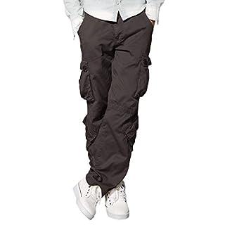 Match Men's Retro Casual Cargo Trousers #3357(Dark Khaki,36)