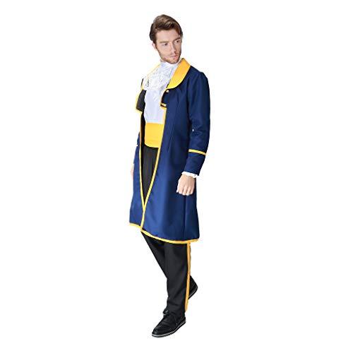 Charming Kostüm Prinz - Hellery Adult Men's Charming Prinz Kostüm Schönheit Und Das Biest Outfit - L