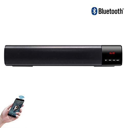 Speaker-EJOYDUTY Bluetooth-Lautsprecher, tragbare 10-W-Soundleiste mit Stereo, 6-H-Wiedergabezeit, 10 m Bluetooth-Reichweite, Unterstützung für U-Disk/TF-Karte/AUX-Modus
