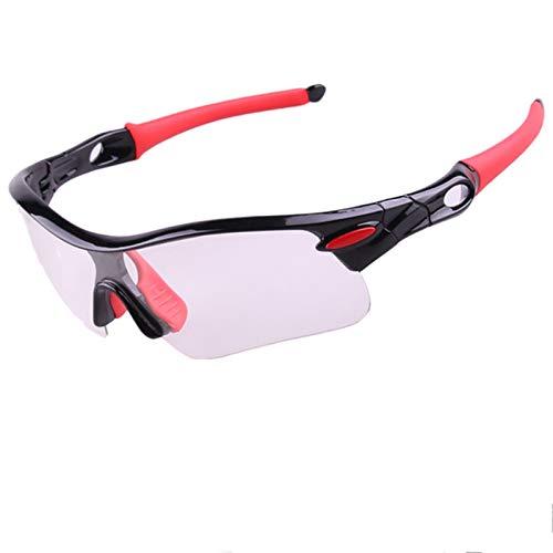 Aienid Sportsonnenbrille Retro Schwarz Rot Sportbrille Winddichter Augenschutz Size:15X4CM