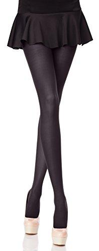 Merry Style Blickdichte Damen Strumpfhose Microfaser 70 DEN (Graphite, 5 (44-48))