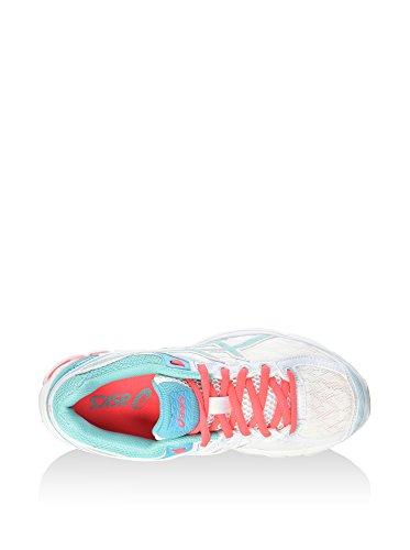 Asics Gt-1000 4 Gs, Unisex-Erwachsene Laufschuhe WHITE / POOL BLUE / DIVA PINK