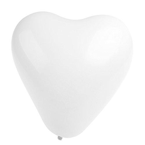 Achat NUOLUX Ballons de coeur, Ballons de mariage en latex pour la décoration de fête, Blanc, 50pcs