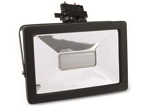 Xenterio 10er Pack 3-Phasen LED-Strahler, schwarz, Slim, 20W, 1400lm, 2700K, Lichtfarbe warmweiß
