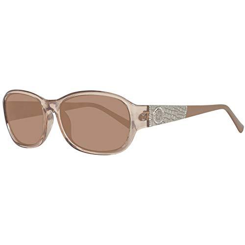 Guess Damen GU7425-5657E Sonnenbrille, Braun (Cream), 56