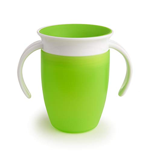 Munchkin Miracle 360 Degree Trainer Cup, 7 oz/207 ml, Green