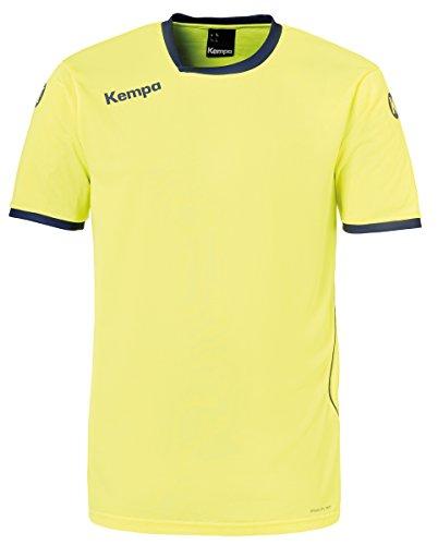 Kempa Herren Curve Trikot, Fluo Gelb/Deep Blau, 164