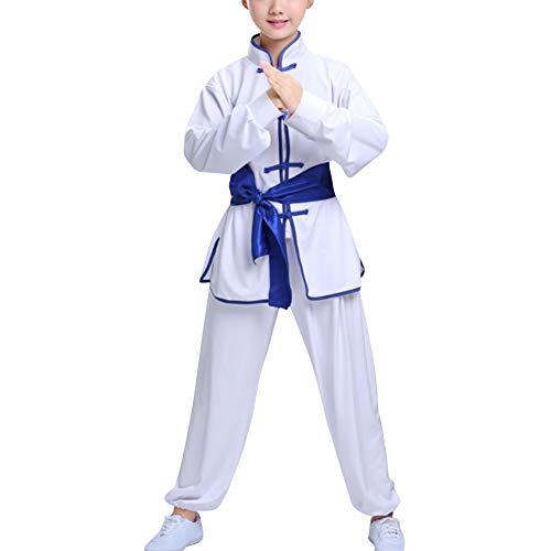 Huatime Kampfsport Bekleidung Kind Trainingsbekleidung Sets - Mädchen Jungen Chinesisch Traditionell Wushu Shaolin Tai Chi Leistungskostüme Kung Fu Uniform Training Bekleidungsanzüge