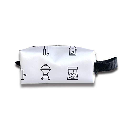 Free Barbecue and Grilled Food Women Cosmetic Bag Travel Girls Oxford Toiletry Bags Lovely Portable Hanging Organizer Makeup Pouch Pencil Case
