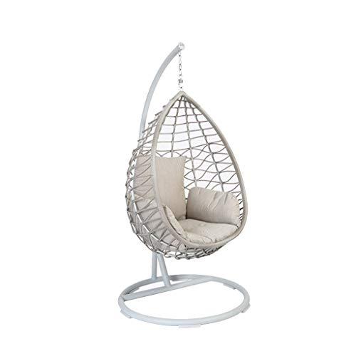 Rocking chair Chaise à Bascule Health UK - Balançoire en rotin - Suspendue à la Main - Haute résilience - Chaise de détente - Terrasse/Jardin