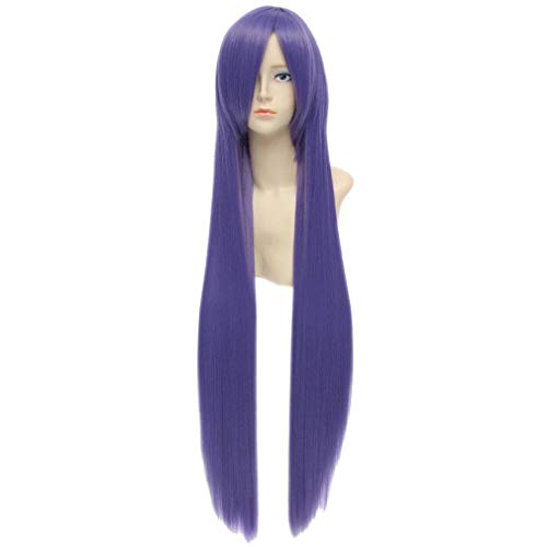 Baisheng Töte mich Baby 100 cm Lila Dash Gerade Lange Synthetische Volle Cosplay Kostüm Anime Perücke (100cm-Aubergine lila)