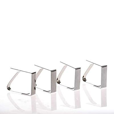 SIDCO ® 4 x Tischtuchklammer Tischdeckenklammer Tischtuchhalter Tischklammern Edelstahl von SIDCO GmbH - Gartenmöbel von Du und Dein Garten