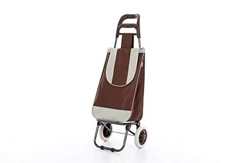 Unbekannt Einkaufstrolleys Einkauf Wagen Trolly Roller Tasche Einkaufs Modern- TOP ROBUST Quality (Braun)