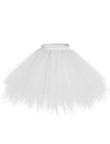 BeiQianE Frauen 50er Jahre Vintage Petticoat Multi-Layer-Short Unterrock rutscht Krinoline Ballett Bubble Tutu Rock (50's Und 60's Rock And Roll Kostüm)