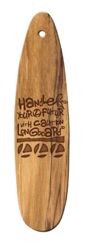 Longboard 078047 Ambientador en Forma de Tabla de Surf, Pacific Fragancia, Madera.