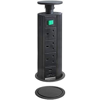 Powerdock Worktop Pull Up Power Sockets: Amazon.co.uk