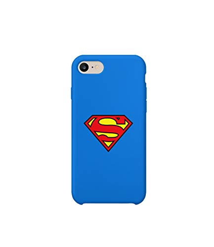 GlamourLab Superman Logo Superhero Protective Case Cover Hard Plastic Handyhülle Schutz Hülle for iPhone 8 Gift Christmas -