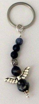 MaMeMi Schlüsselanhänger, Schutzengel, Perlen aus Sodalith