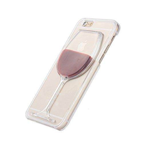 Fenrad Liquid Fließen Flüssig Weinglas Kreativ Design Transparent Hart Plastik Case Clear Hard...