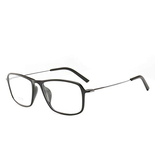 Ovesuxle Quadratische übergroße Brillengestell Unisex Brillengestell für Frauen, Männer, ohne Brillen (Color : Black)