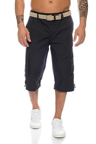 VT-Fashion Herren Cargo Shorts mit Dehnbund - mehrere Farben ID505, Größe:XXL;Farbe:Schwarz -