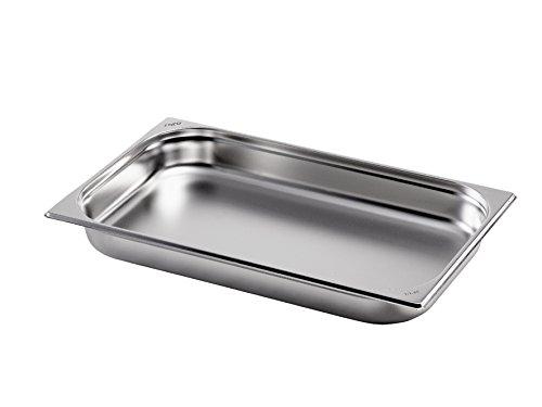 Saro GN 1/1 D 65 mm Gastronormbehälter, Edelstahl, Silber, 53 x 32.5 x 6.5 cm