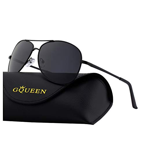 GQUEEN Sonnenbrille Polarisiert Piloten Sonnenbrille Pilot Flieger Pilotenbrille Herren MOZ3