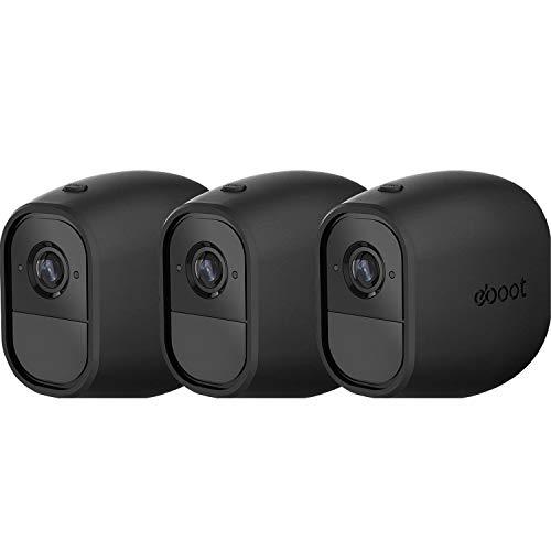 3 Stück Silikonhüllen Überwachungskamera Hülle für Arlo Pro Smart Silikon Skins Schwarz 3 Packung Security Camera Haut für Arlo Pro, Arlo Pro 2 Smart Security Drahtlose Kamera