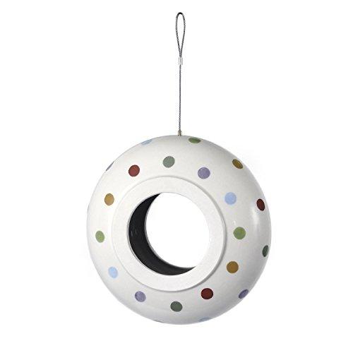Petface Spots und Dots Keramik glasiert Ring Futterspender für Wildvögel (Mischung Spezielle Dots)
